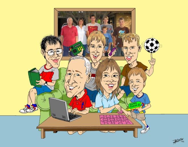 Allemand Family Cartoon (med)